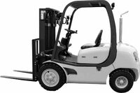 stock photo shows a forklift truck