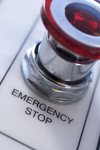 image of an emergency stop button