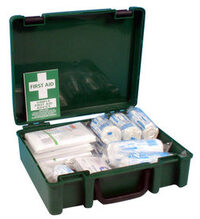 Photo shows a first aid kit