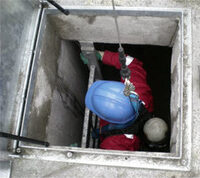 Photo shows confined space training