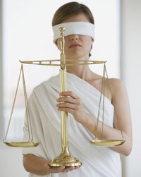 Photo shows a representation of Justice