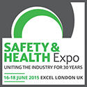 image for the safety & health expo in London between 16 and 18 June 2015