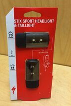 Photo shows a Stix bicycle light product