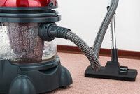 Photo shows a carpet cleaner